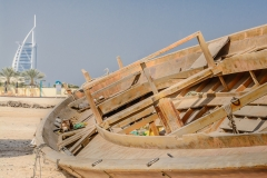 Old abra at Jumeirah Beach